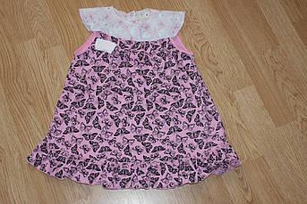 Летнее детское платье Бабочки 3 - 5 лет