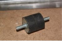 Гумовий буфер (40 х 40 - М8/8, двостороння різьба)