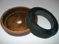 Гумовий вкладиш в шкіряний манжеті (80х54х14 мм) P-13