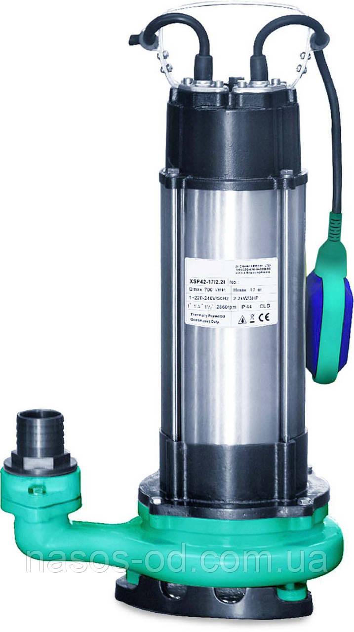 Дренажно-фекальный насос Aquatica для перекачки грязной воды 1.5кВт Hmax22м Qmax270л/мин (нерж)