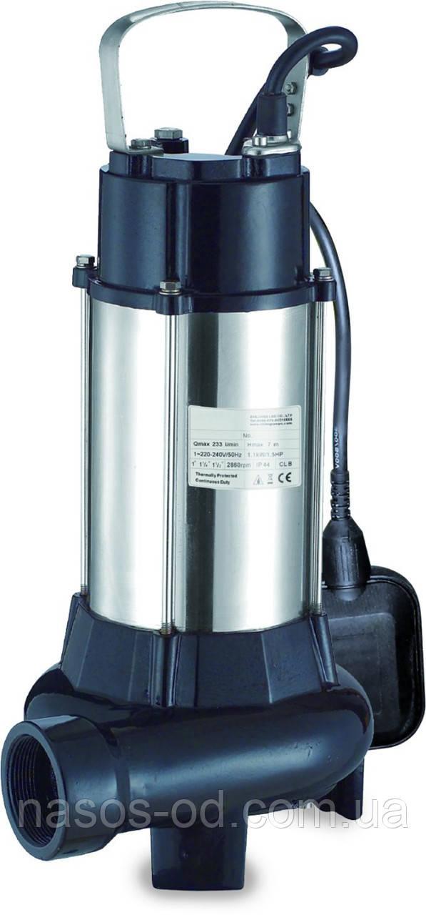 Канализационный насос фекальный Aquatica для выгребных ям 1.1кВт Hmax10м Qmax225л/мин (с ножом)