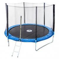 Батут диаметром 312см (10ft) Atleto для детей спортивный с лестницей и внешней сеткой