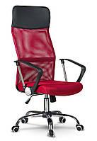 Офисное кресло с микросетки SOFOTEL SYDNEY Красное В НАЛИЧИИ