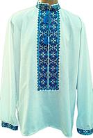 """Чоловіча вишита сорочка """"Ногбі"""" (Мужская вышитая рубашка """"Ногбі"""") SN-0017"""