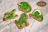 Набор детских пряников для торта Динозавры