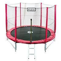 Батут диаметром 312см (10ft) с двойными ножками для детей спортивный с лестницей и внешней сеткой