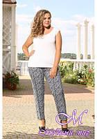 Женские летние брюки большого размера (р. 48-90) арт. Молли