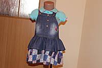 Джинсовый сарафан для девочки, фото 1