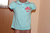 Летняя футболка для девочки Размер 80, 90 см, фото 1
