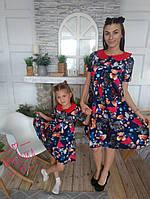 "Симпатичное платье ""Мишутки -Family look"" мама и дочка"
