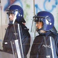 УЦЕНКА! Противоударный защитный шлем с забралом Argus PAS 017 (синий). Police Великобритании, оригинал.