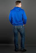 Мужская толстовка однотонная, с большим удобным капюшоном Рунэ, цвет электрик / размерный ряд 48-56, фото 2