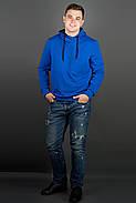 Мужская толстовка однотонная, с большим удобным капюшоном Рунэ, цвет электрик / размерный ряд 48-56, фото 3