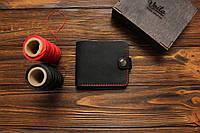 Мужской кожаный кошелек ручной работы VOILE vl-cw1-blk-red