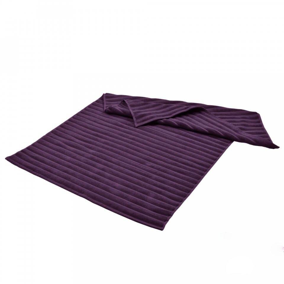 Банный коврик в полоску с антибактериальной защитой Фиолетовый