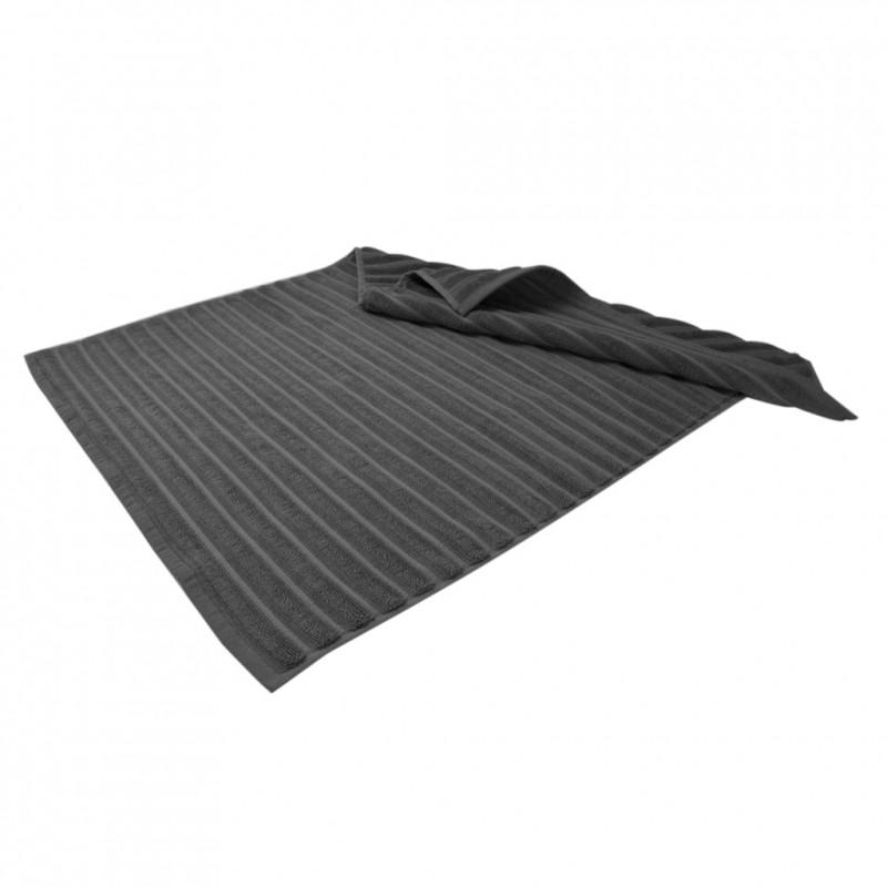 Банный коврик в полоску с антибактериальной защитой Темно-серый