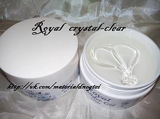 """CLEAR - однофазный кристально-прозрачный UV гель """"Royal"""" USA."""