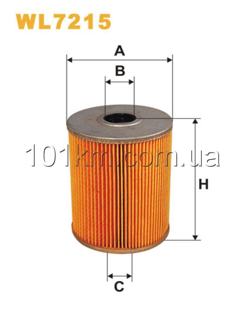 Фильтр масляный WIX WL7215 (OM652)