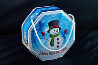 Сумочка новогодняя, Восьмигранник с ручкой, Картонная упаковка для конфет, 16,5х7Х16,5 см