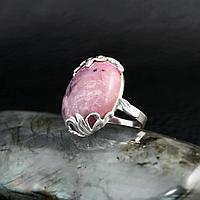 Родонит орлец, серебро 925, кольцо, 611КР