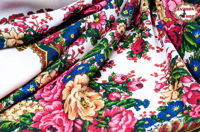 Павлопосадский кремовый платок Валенсия, фото 2