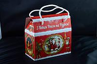 Саквояж новогодний Ретро, Картонная упаковка для конфет, 16,5х8,5х15 см