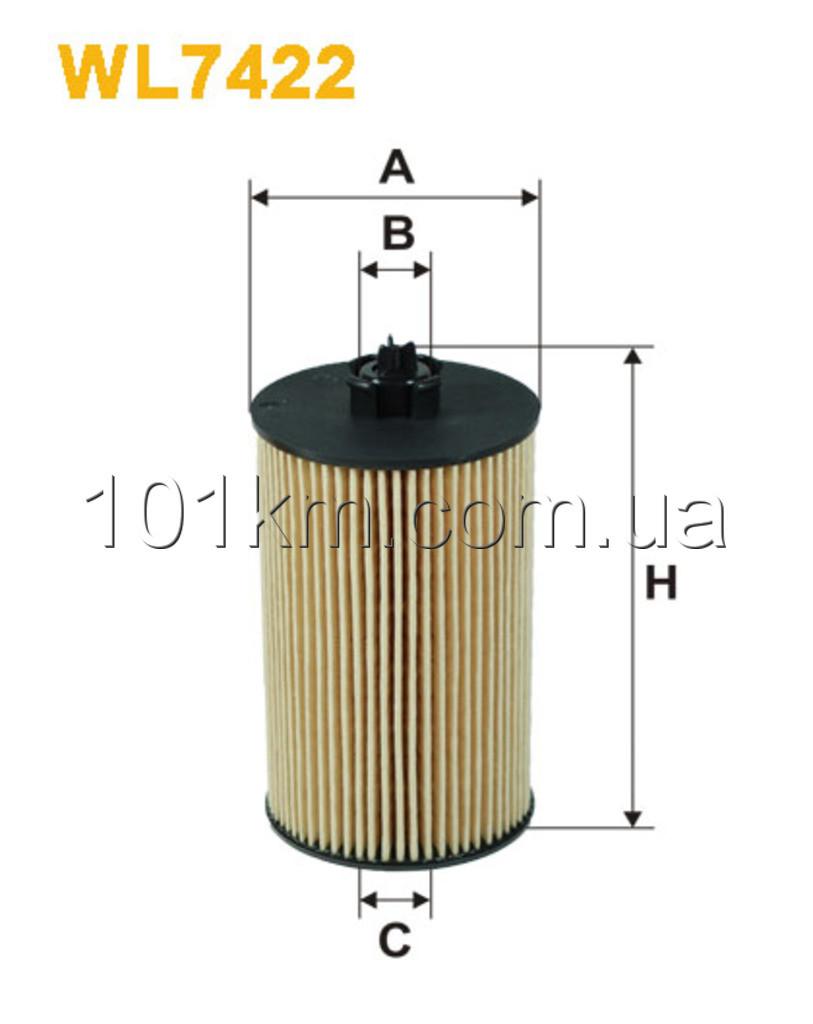 Фильтр масляный WIX WL7422 (OE648/6)