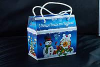 Саквояж новогодний, Картонная упаковка для конфет, 16,5х8,5х15 см