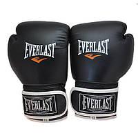 Перчатки боксерские Everlast 6 унций жесткие (черные)