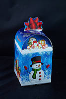 Сундук новогодний со звездой, Картонная упаковка для конфет, 18х11х11 см