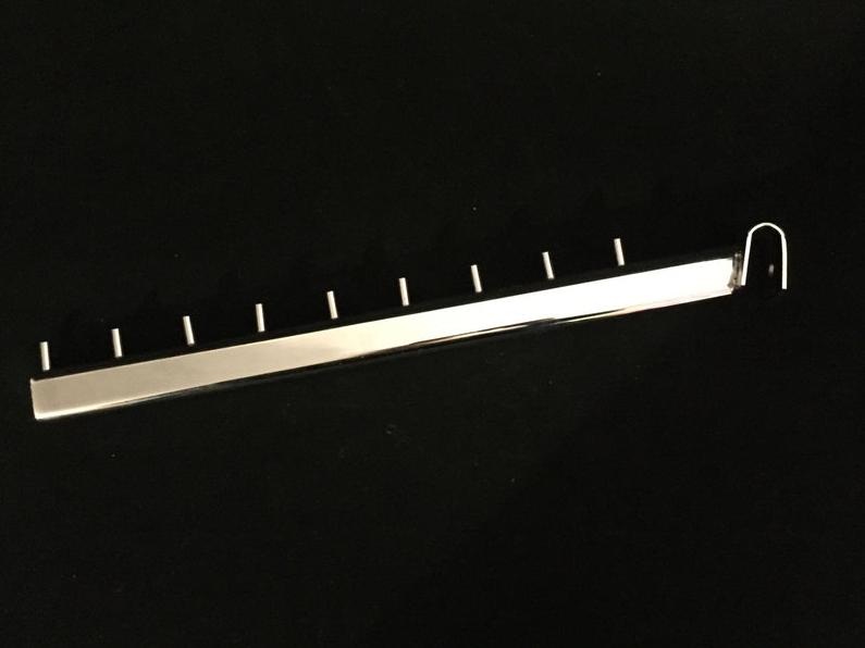 Флейта на перемичку хром 40 см
