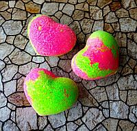 Бомбочка/гейзер для ванны Сердце (Роза)