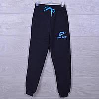 """Утепленные спортивные штаны """"Nike реплика just do it"""". 7-12 лет. Черные. Оптом"""