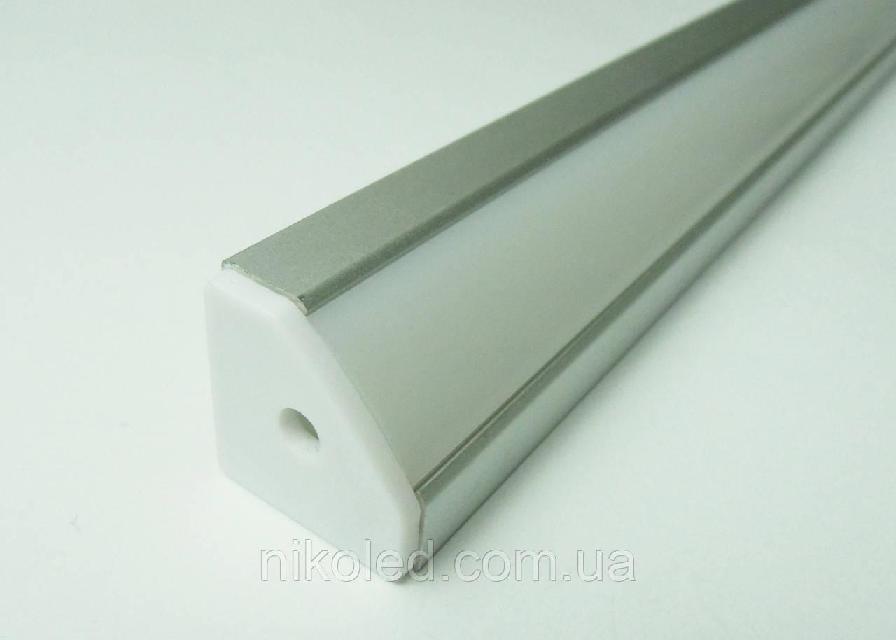 Профиль угловой для светодиодной ленты 18*18*1000 мм