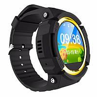 Детские умные часы сенсорные Lemado Smart Kid Watch V12 black Водонепроницаемые