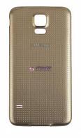 Задняя крышка Samsung G900H Galaxy S5 золотистая
