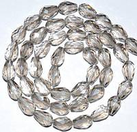 Бусины хрусталь, капля, 8х11 мм, серый (60 шт) 5_33_178