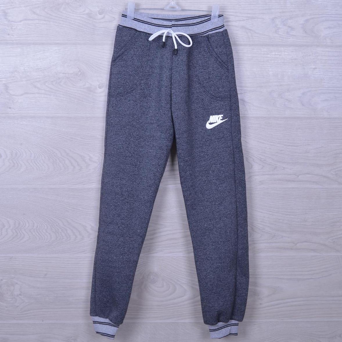 """Утепленные спортивные штаны """"Nike реплика"""". 7-12 лет. Серые. Оптом"""