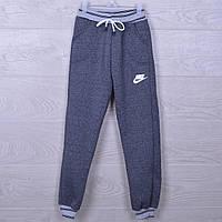 """Утепленные спортивные штаны """"Nike реплика"""". 7-12 лет. Серые. Оптом, фото 1"""