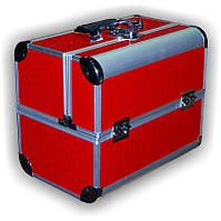 Чемодан металлический раздвижной красный лак