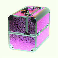 Чемодан металлический раздвижной розовое сияние