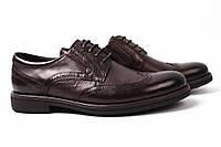 Туфли мужские Basconi натуральная кожа, цвет темно-коричневый (мокасины, каблук, комфорт)