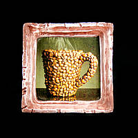 Подарок картина керамическая для любителей кофе авторский дизайн Кофейная чашка 9*9см 9781