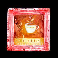 Подарок картина керамическая для любителей кофе авторский дизайн Латте 12*12см 9785