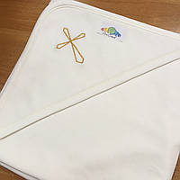 Крыжма для крещения (однослойный трикотаж без кружева), арт. 08012