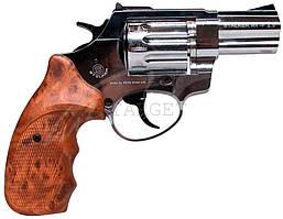 """Револьвер флобера STALKER 4 мм 2,5"""" никель,коричн. рук."""