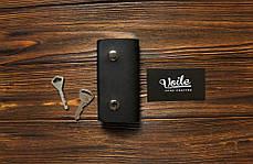 Ключница кожаная ручной работы VOILE vl-ck2-kblk, фото 2