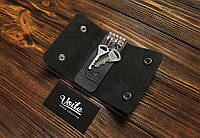 Ключница кожаная ручной работы VOILE vl-ck2-kblk