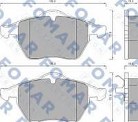 FO495781 Fomar Roulunds колодки передние