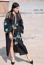 Вышитое платье  бохо вышиванка лен, этно, бохо-стиль, черное платье, Bohemian,Платье макси, стиль Вита Кин, фото 3